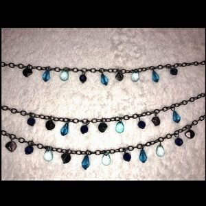 unbranded Jewelry - 💎BOGO FREE! Beaded blue 3 layered necklace!💎🦋
